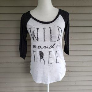 Maurices Wild and Free Black & White Shirt Size XS